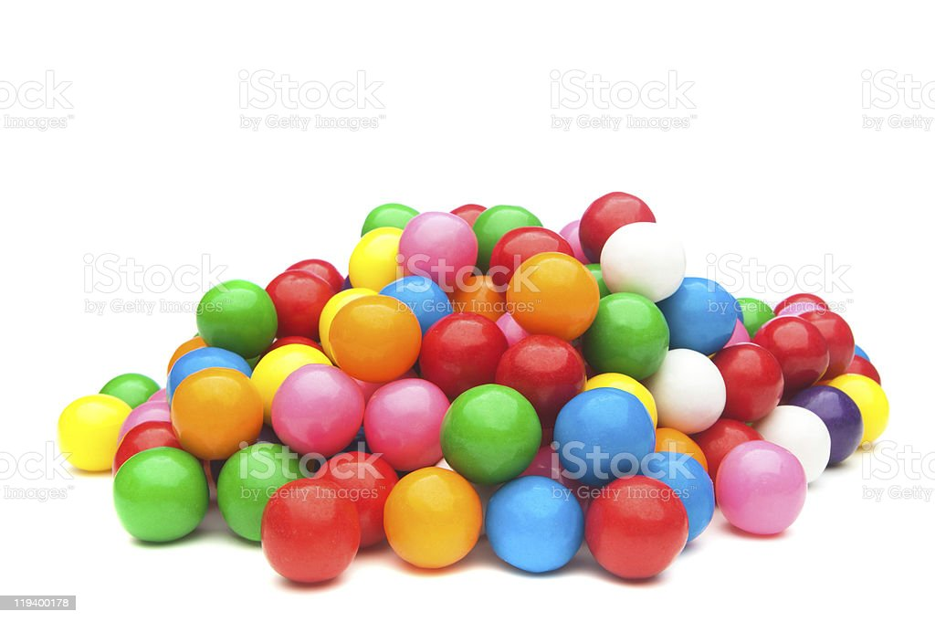 Colorful gumballs stock photo