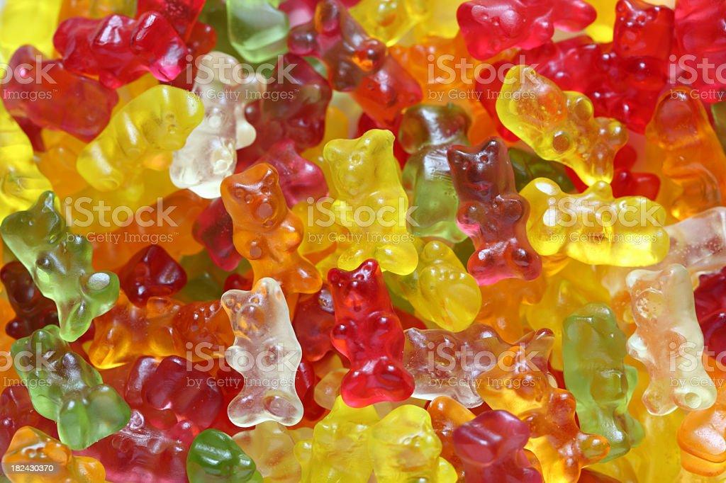 Colorful gummy bear background stock photo