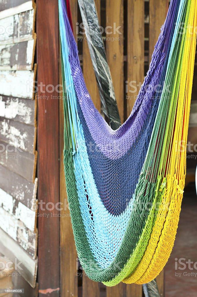 Colorful hammock. royalty-free stock photo