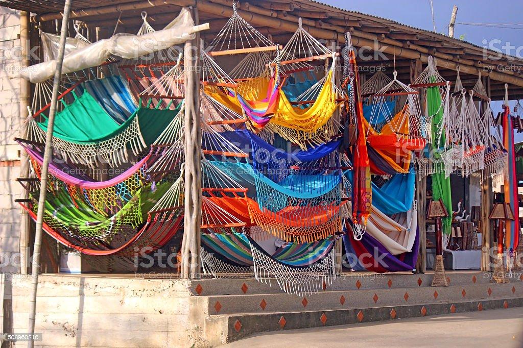 Colorful Hammocks stock photo