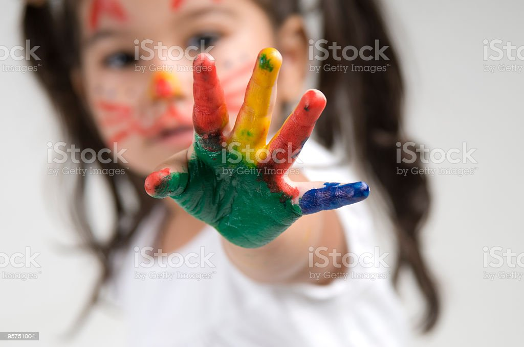 Colorful Hand royalty-free stock photo