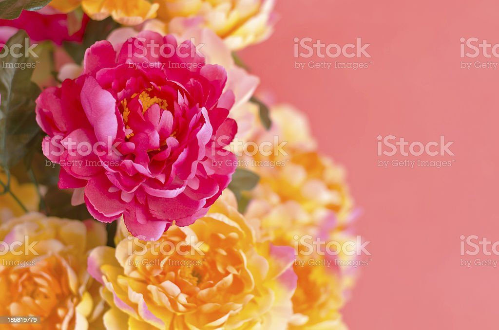 Colorful handmade flower fabric royalty-free stock photo