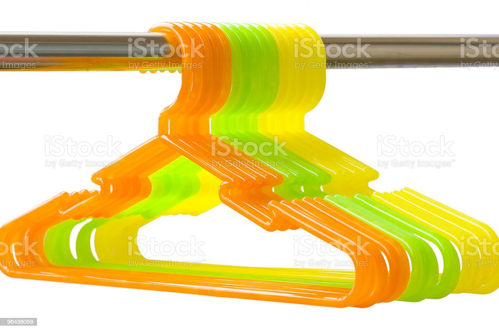 Colorful Hanger royalty-free stock photo