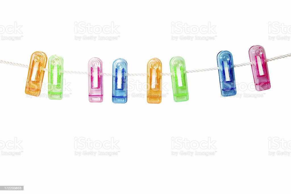 Photo Hanging Clips colorful hanging clips stock photo 172203853 | istock