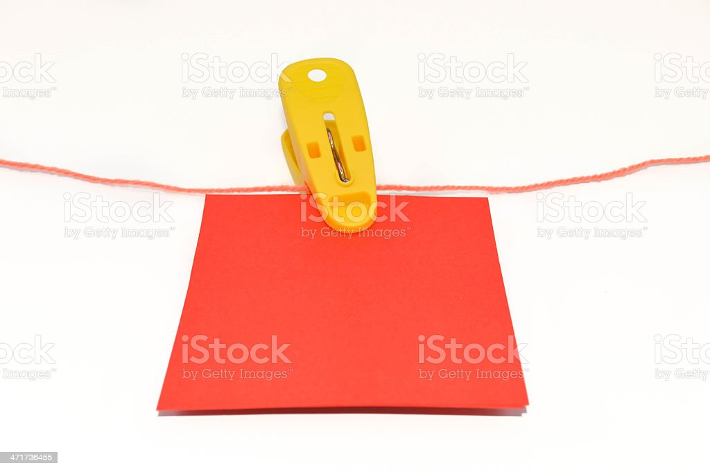 Colorful Hanging Notepads stock photo
