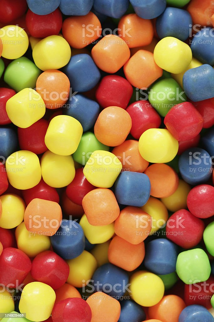 Colorful Hard Candy Closeup royalty-free stock photo