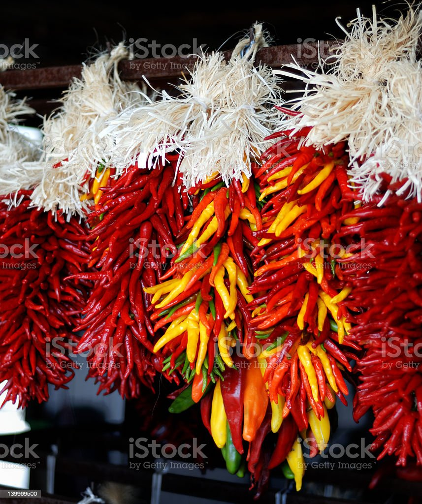 Colorful Hatch Ristras stock photo