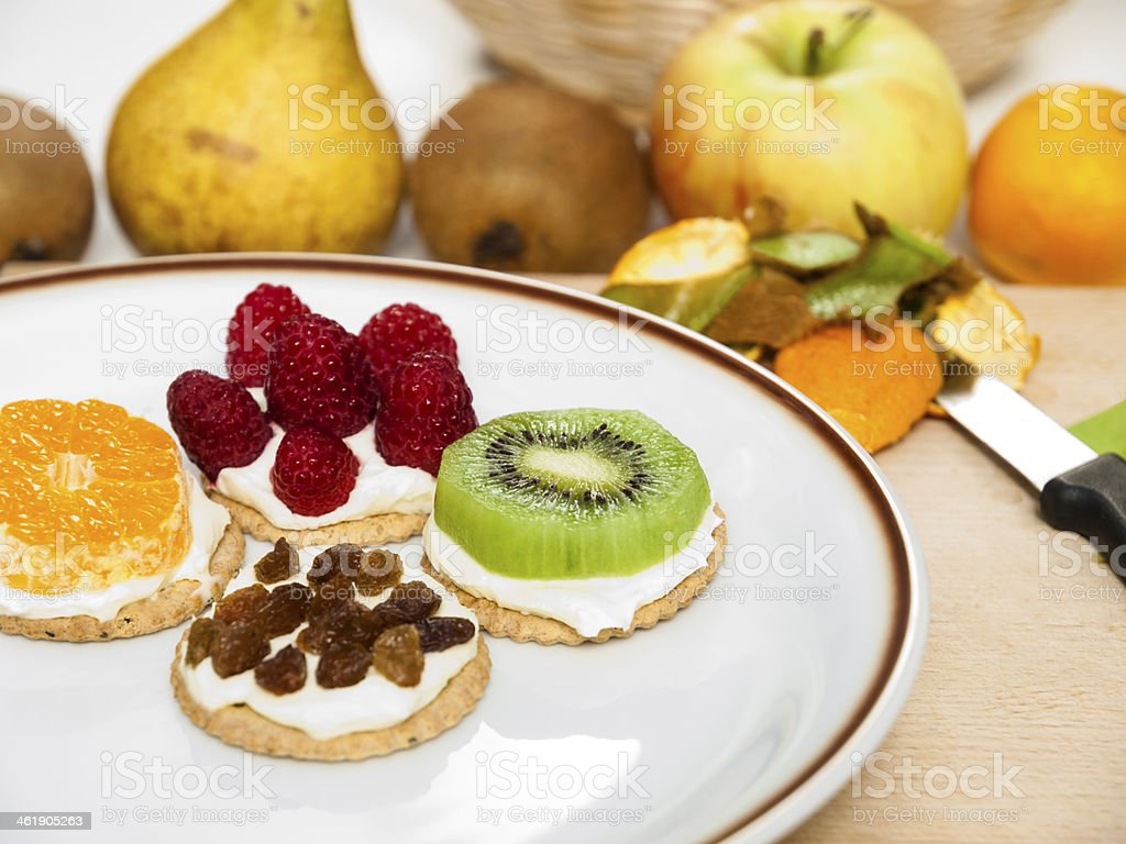 Colorful Healthy Fruit Snack stock photo