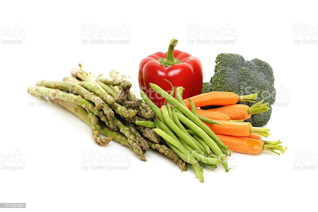 Colorful Healthy Whole Fresh Vegetables royalty-free stock photo