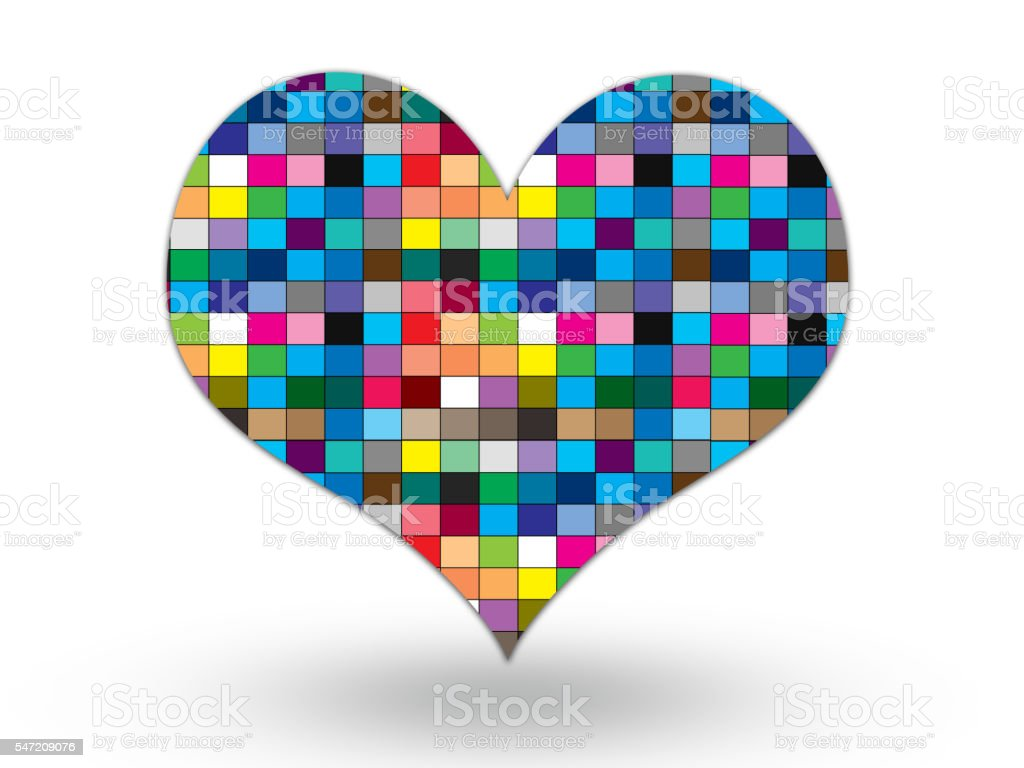 colorful heart on white background royalty-free stock photo