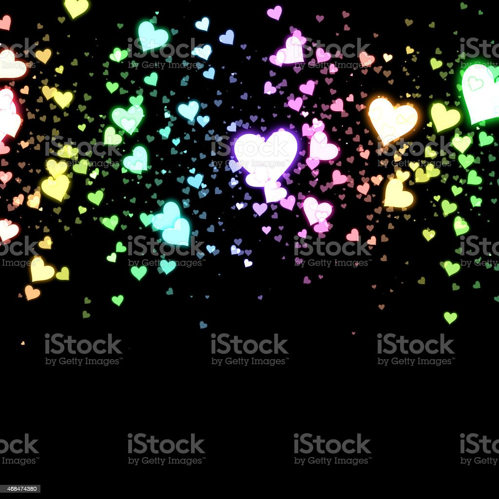 Colorful hearts royalty-free stock photo