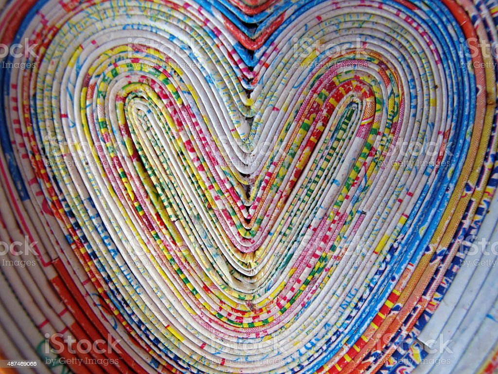 colorful hearts stock photo