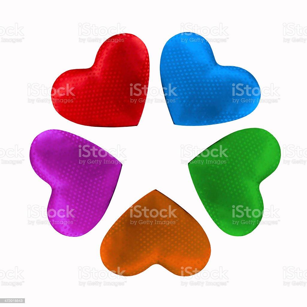 Coeur en forme de fleur coloré photo libre de droits