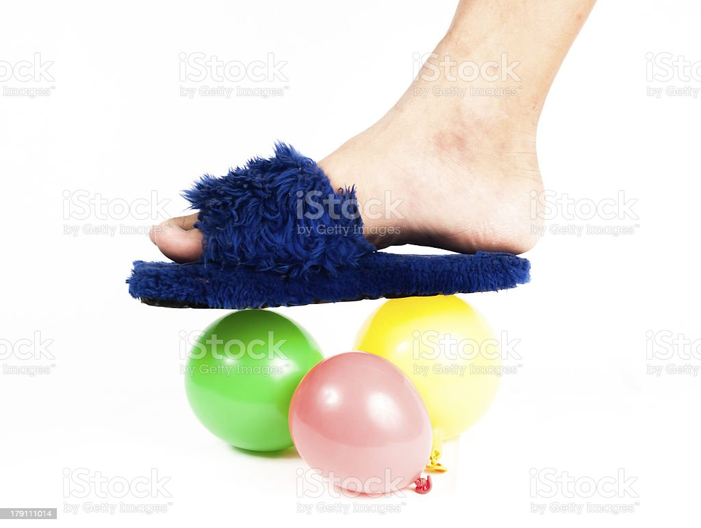 colorful helium balloons isolated royalty-free stock photo