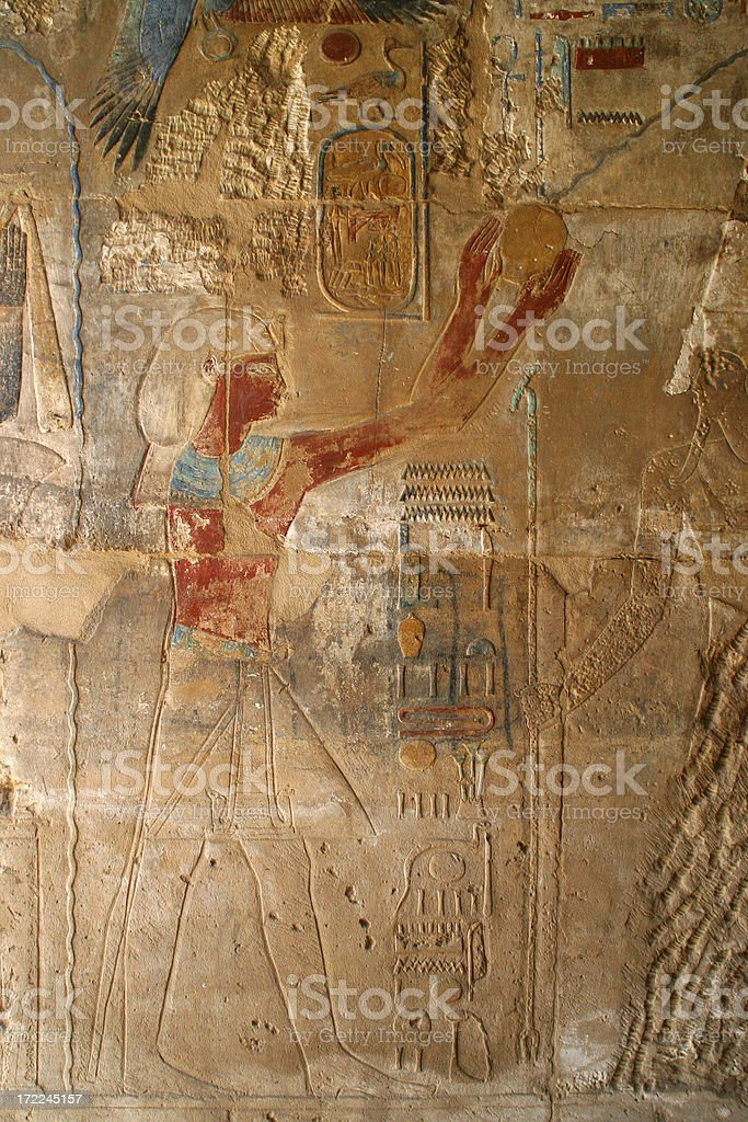 Colorful hieroglyphs royalty-free stock photo
