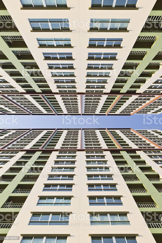 Colorato alto edificio foto stock royalty-free