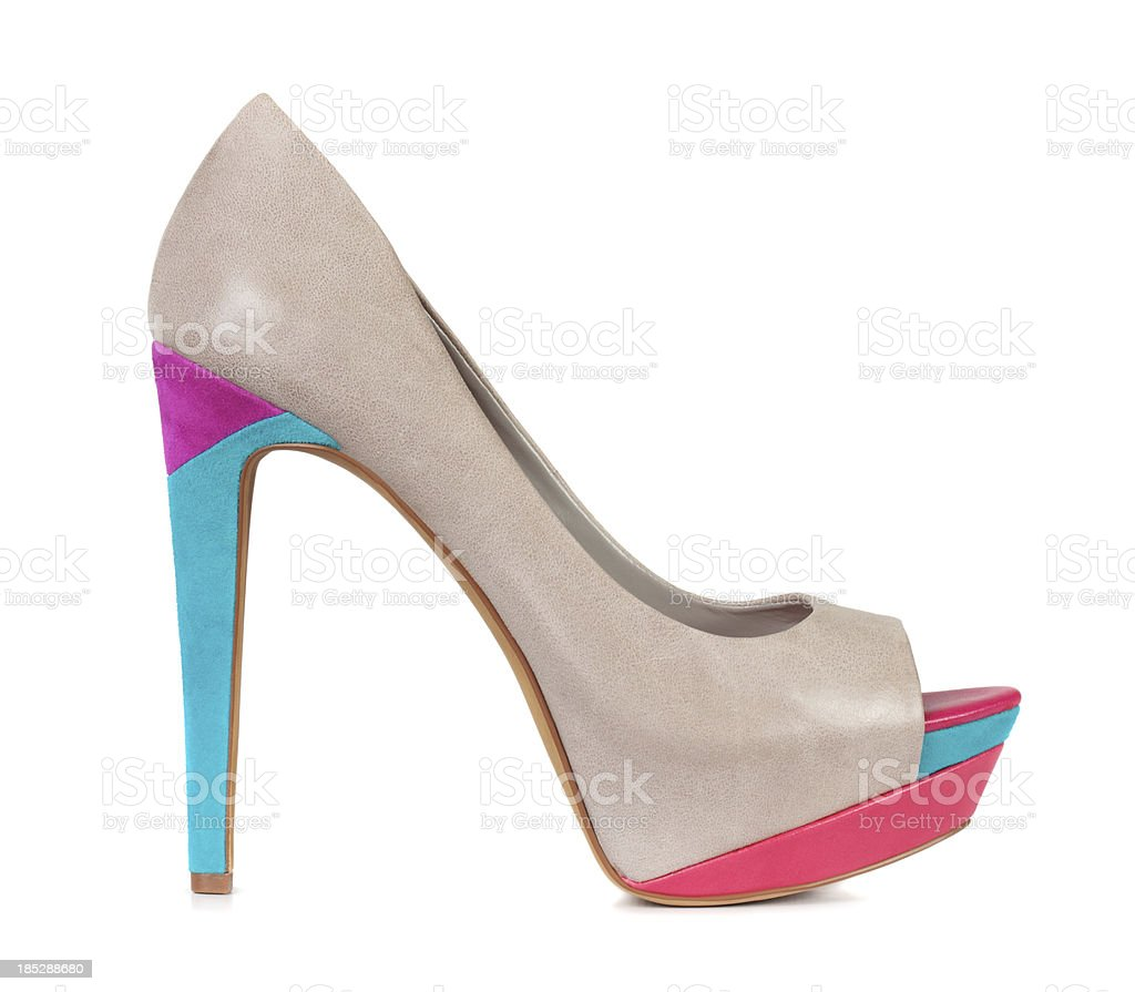 Colorful High Heel Shoe stock photo