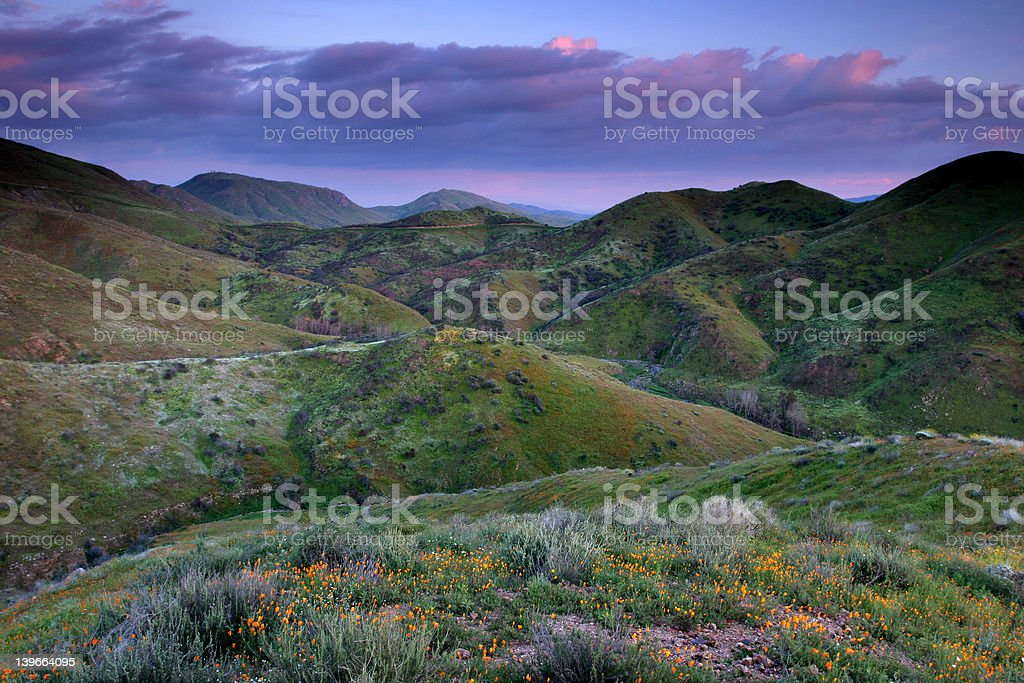 Colorful hills stock photo