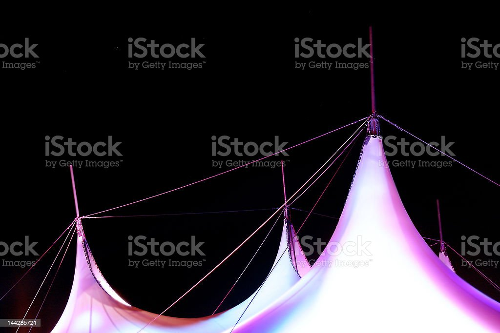 colorful hipped roof on dark background royalty-free stock photo