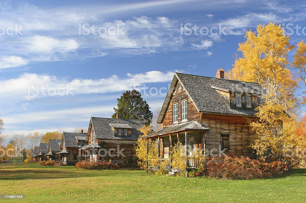 Colorful historical Village in Fall royalty-free stock photo