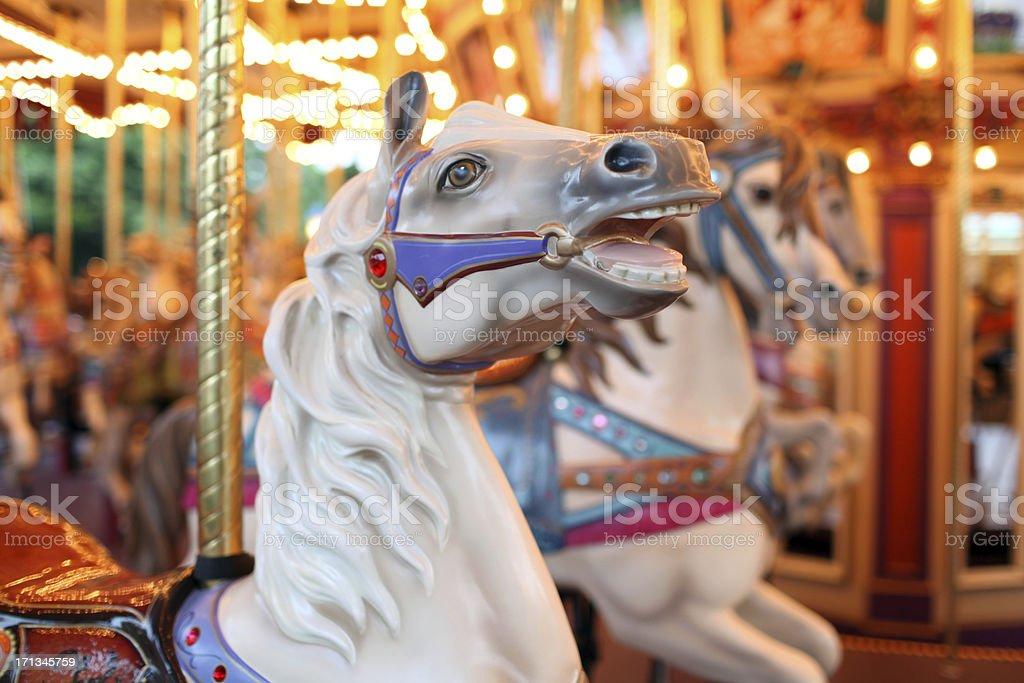 Colorful Holiday Carousel Horse - XXXLarge stock photo