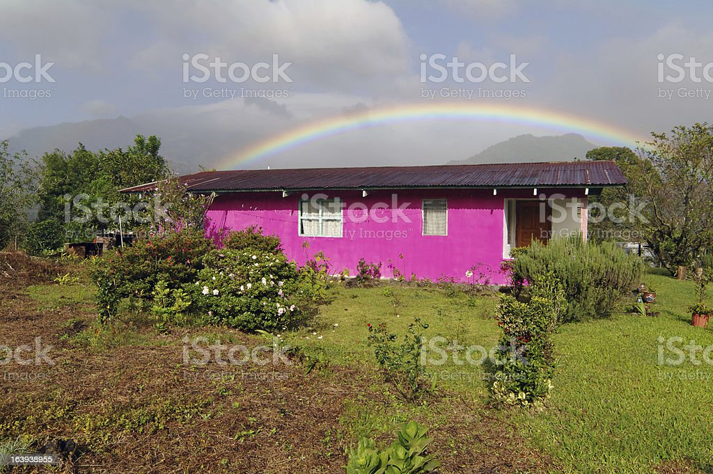 Colorful Home in Boquete, Panama royalty-free stock photo