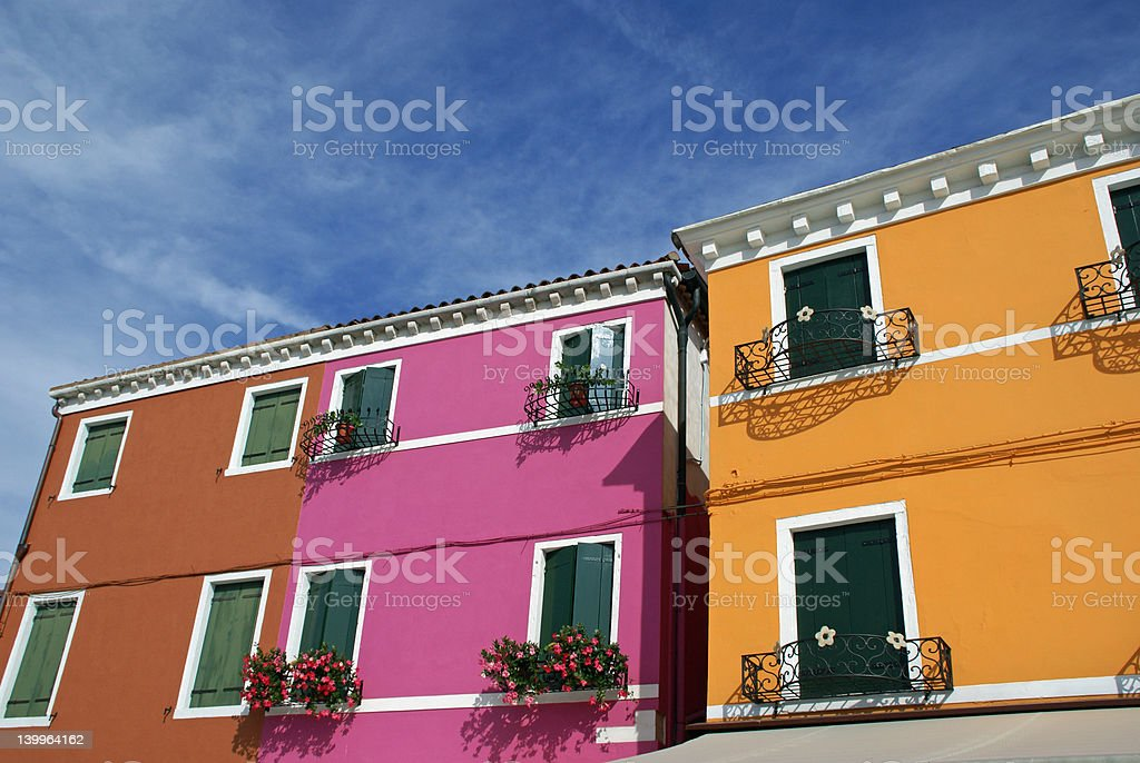 Colorful Homes royalty-free stock photo