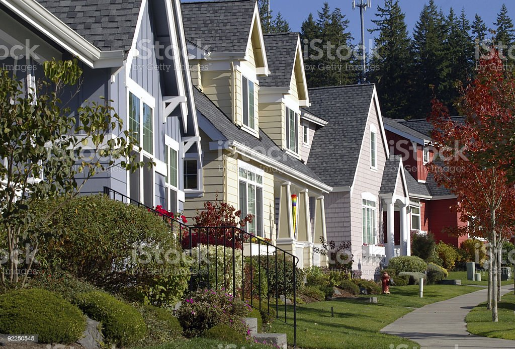 Colorful Homes stock photo