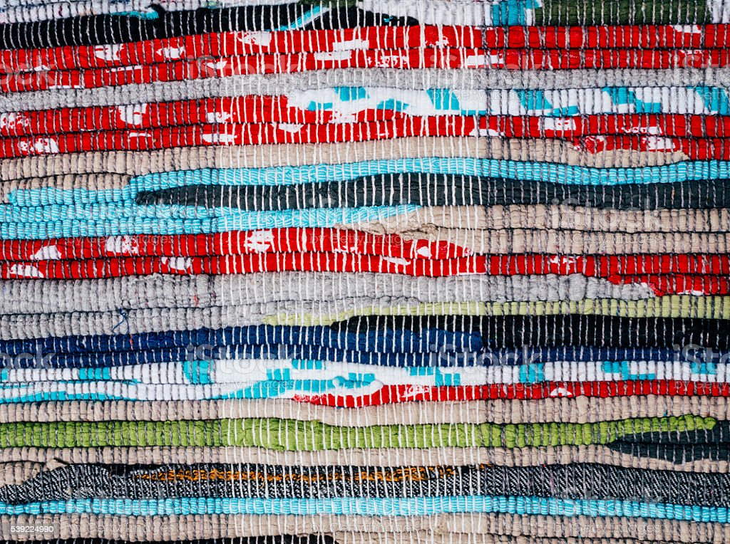 Colorful homespun cloth. Rustic style stock photo