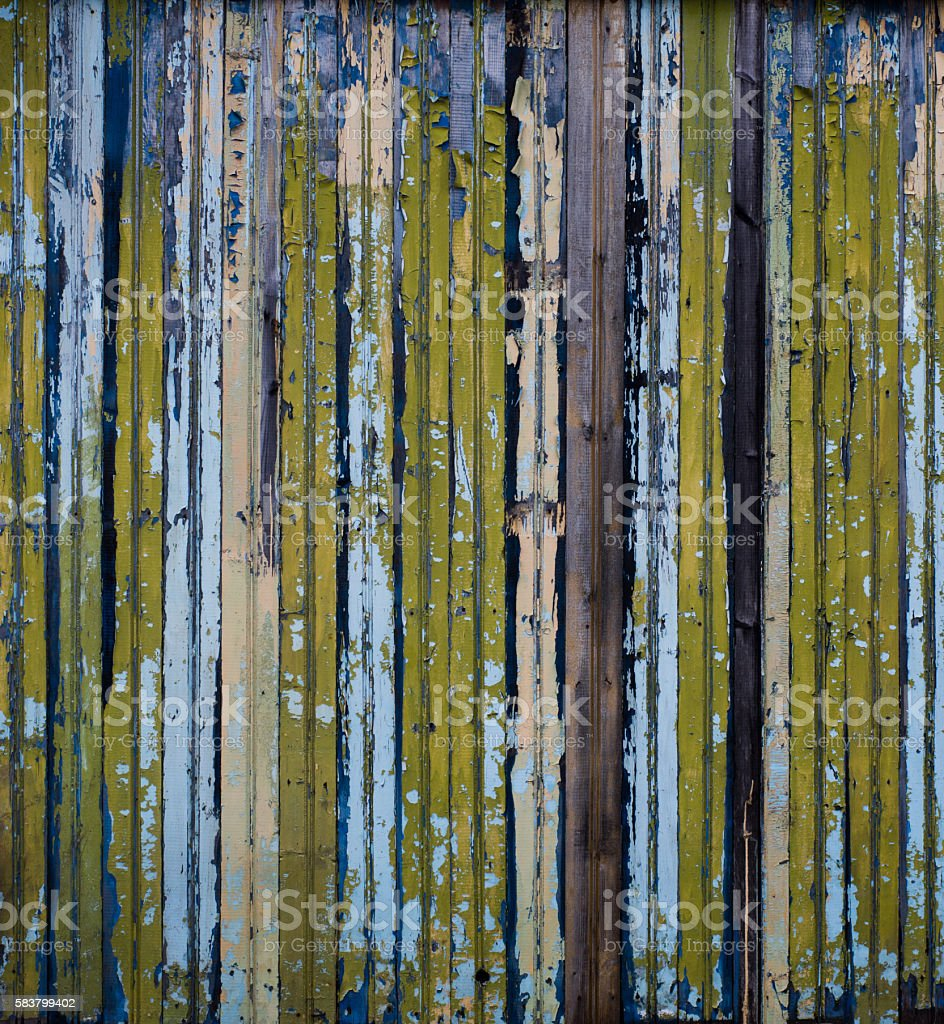 Colorful horizontal lines, fence stock photo