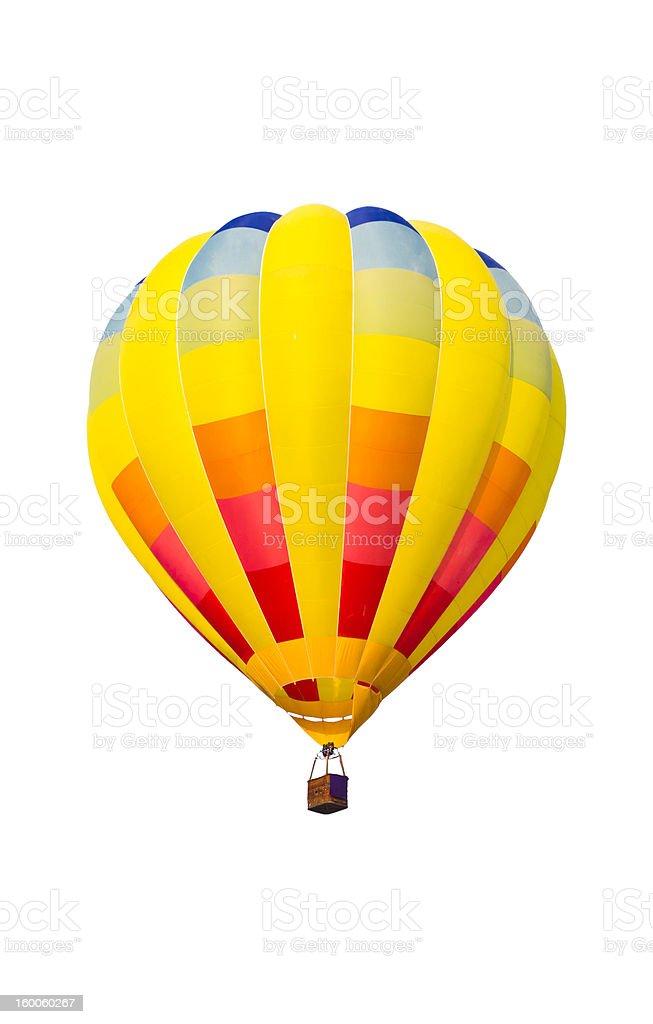 Aria calda palloncini colorati isolato su sfondo bianco foto stock royalty-free