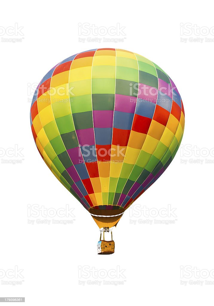 colorful hot air balloon isolated on white background royalty-free stock photo
