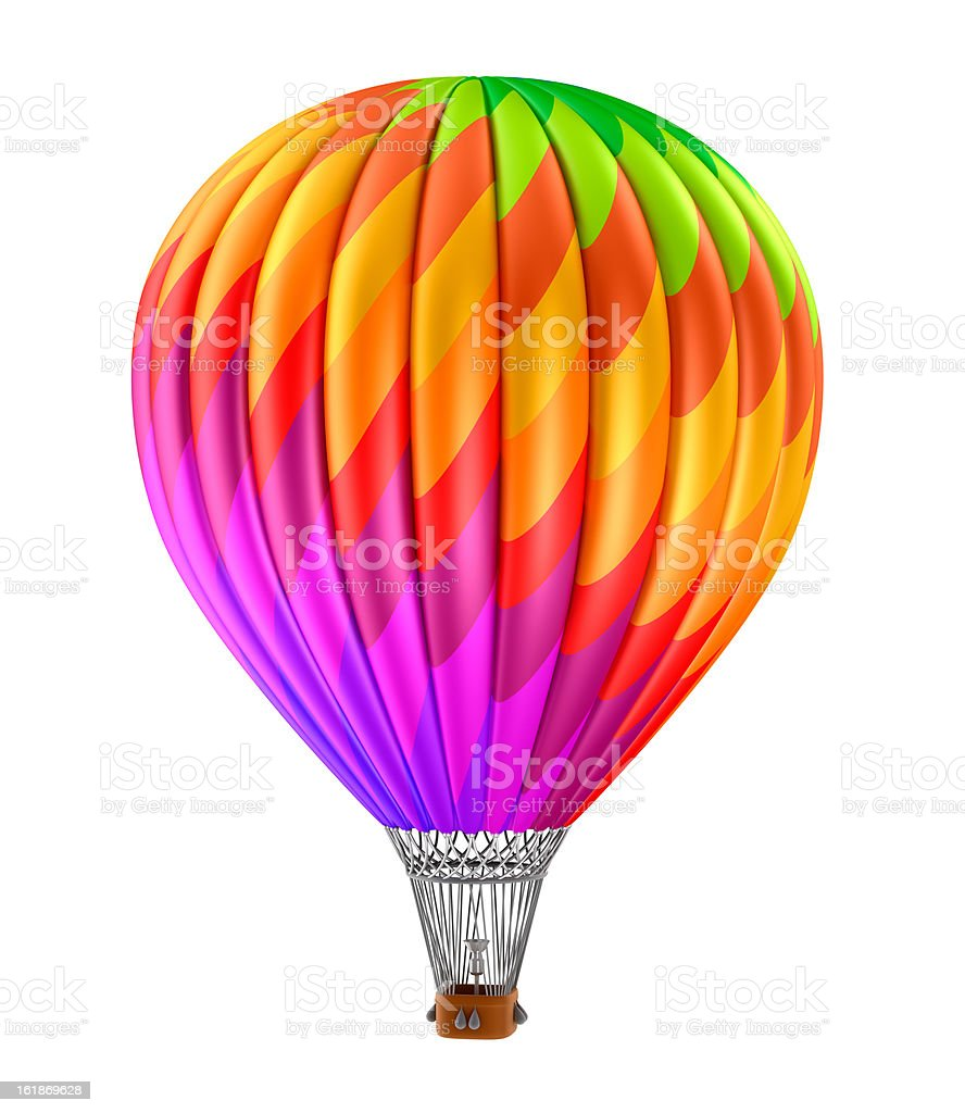 Colorful hot air balloon royalty-free stock photo