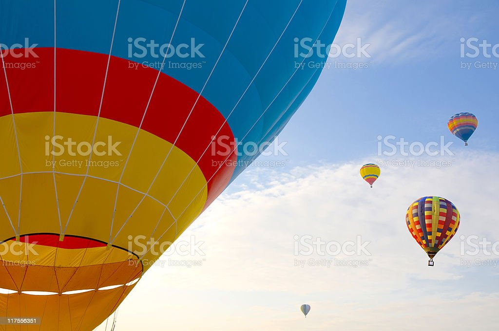 Colorful hot air balloons on the sky royalty-free stock photo