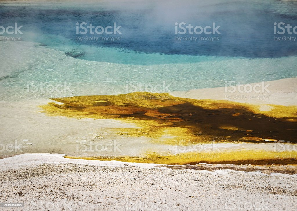 Colorful hot spring, Yellowstone National Park, USA stock photo