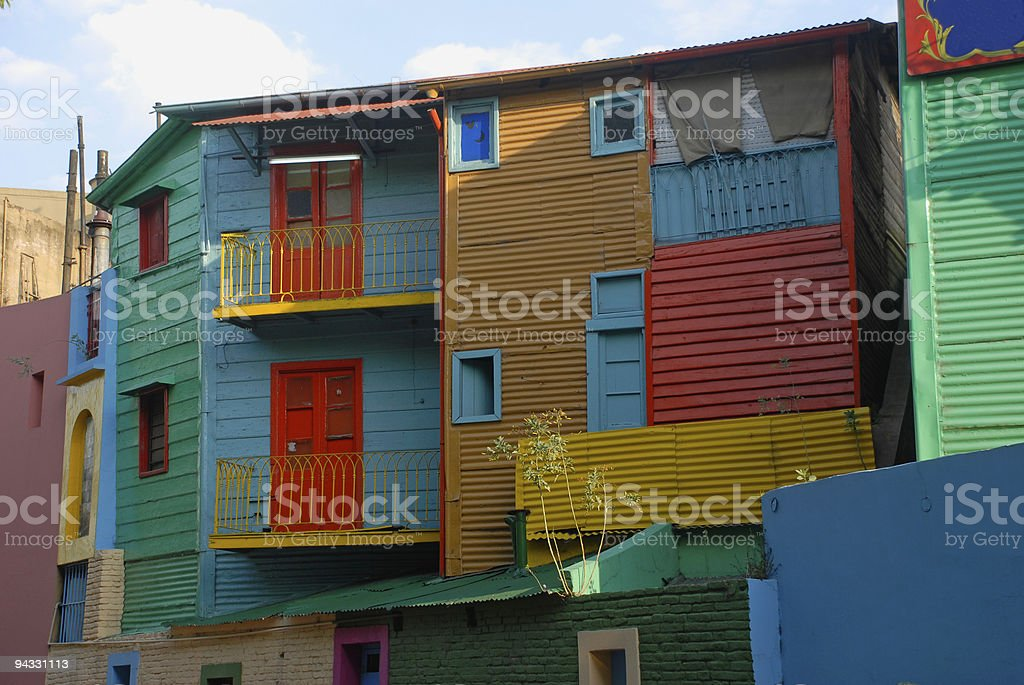 Colorful house exterior in Buenos Aires, Argentina royalty-free stock photo