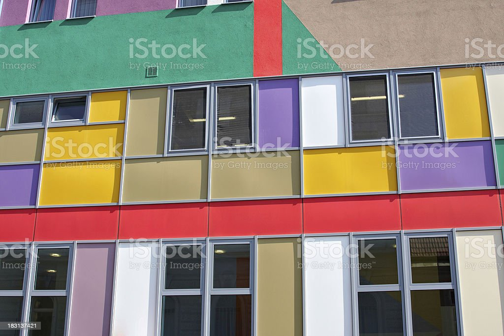 colorful house facade royalty-free stock photo