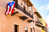 Colorful house facades of Old San Juan, Puerto Rico