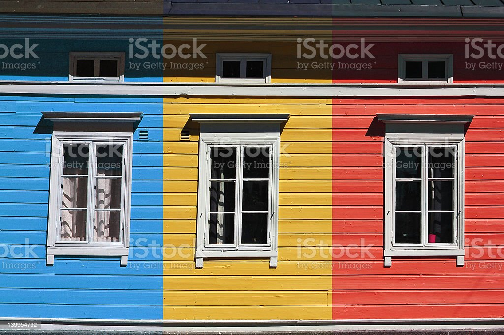 Colorful house stock photo