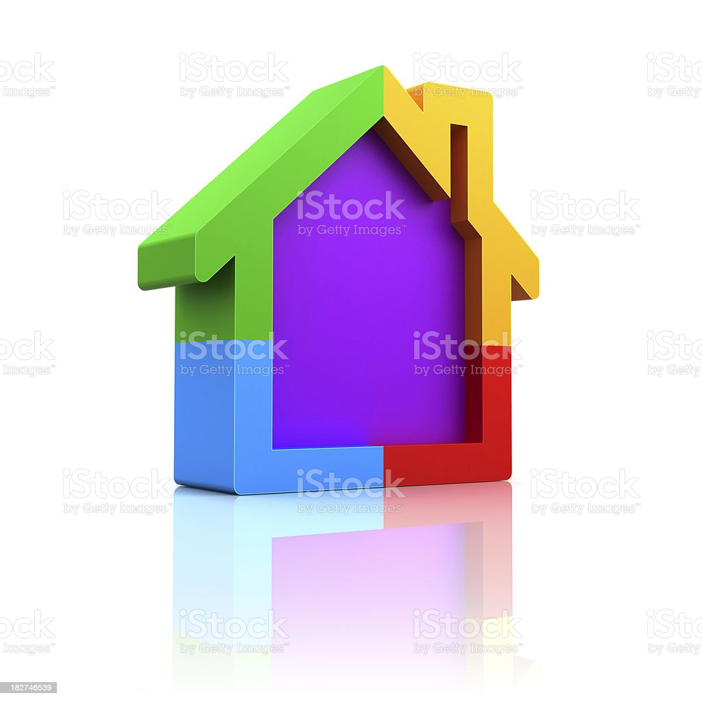 colorful house royalty-free stock photo