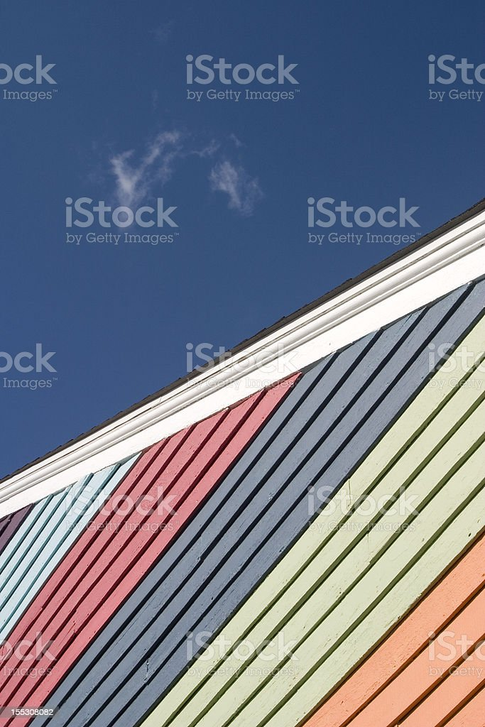 Colorful House Siding royalty-free stock photo