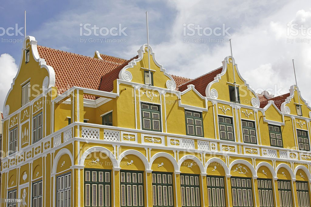 Colorful house # 1, Willemstad, Curacao royalty-free stock photo