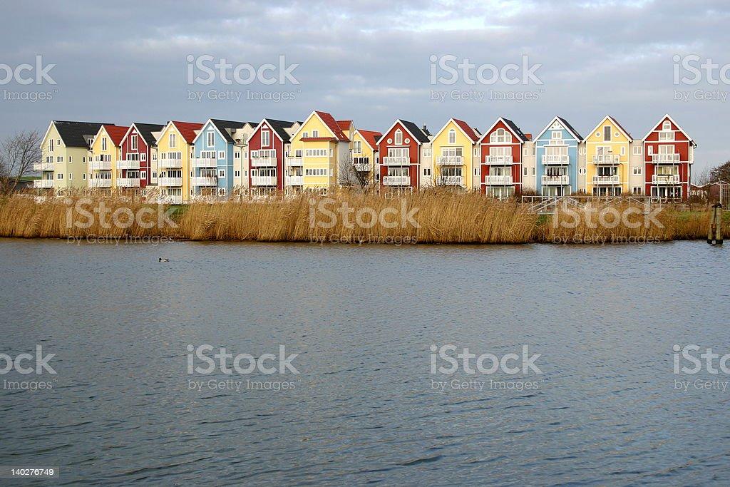 Colorful houses 1 (swedish style) royalty-free stock photo