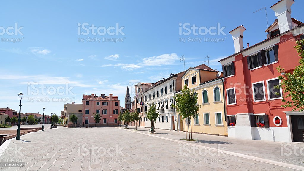 Colorful houses and buildings in Venice, Italy royalty-free stock photo
