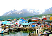 Colorful houses at the end of the world