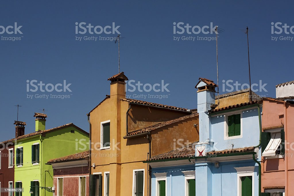 Colorful houses, Burano royalty-free stock photo