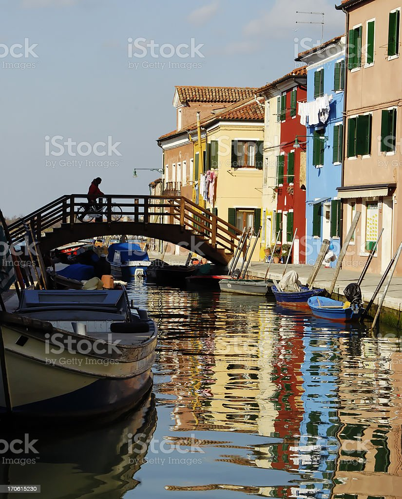 Colorful houses in Burano, Italy royalty-free stock photo