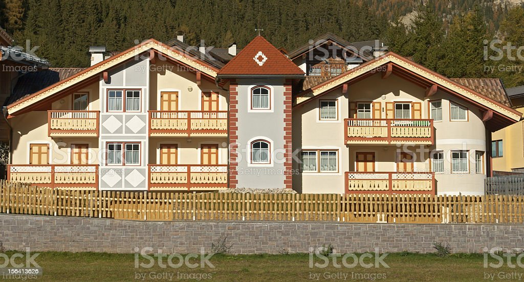 Colorful houses in Italy royalty-free stock photo