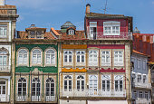 Colorful houses in the historical center of Guimaraes