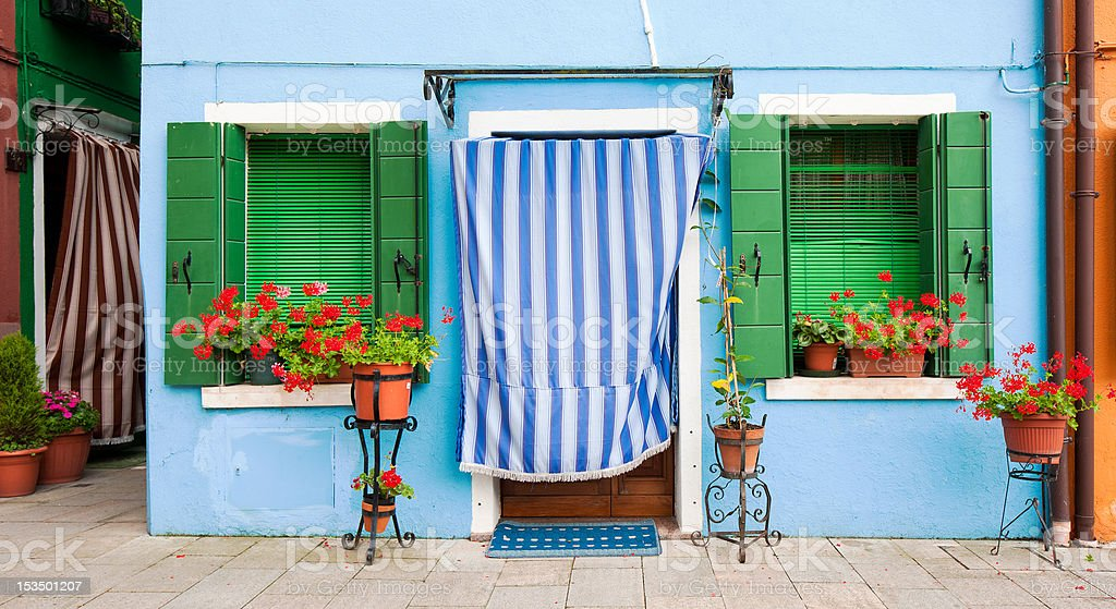 Colorful houses of Burano, Venice, Italy royalty-free stock photo